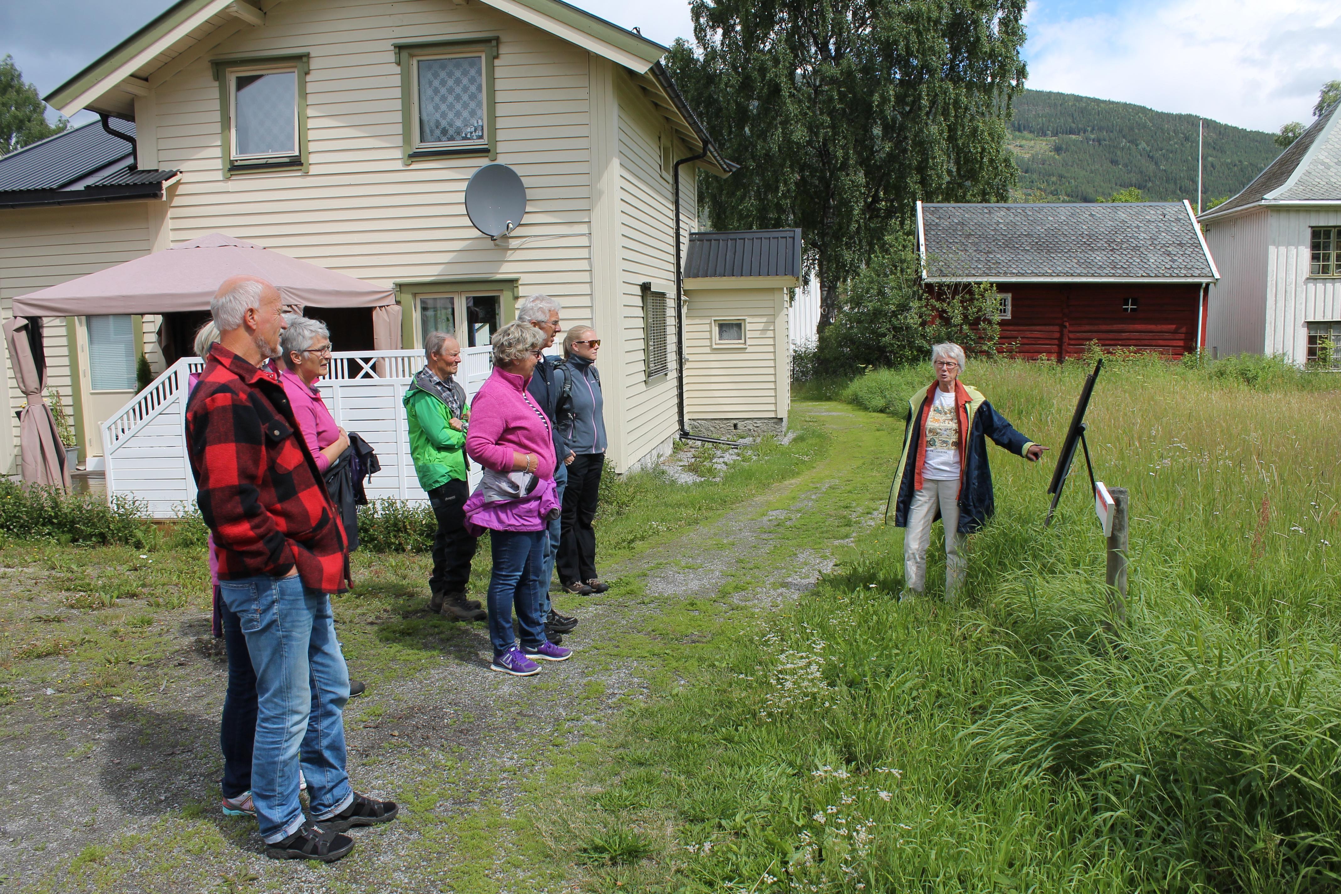 Torill Thømt ved Gude-stien i Gamle Nes Foto: Leif Olav Klype
