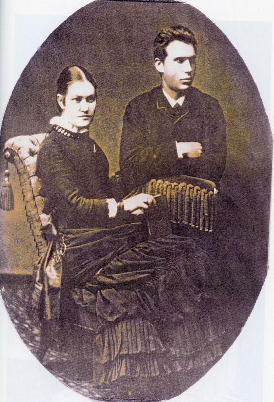 15. Bryllupsbilde - Svein Sveinson og hustru Birthe Emilie (Milla)