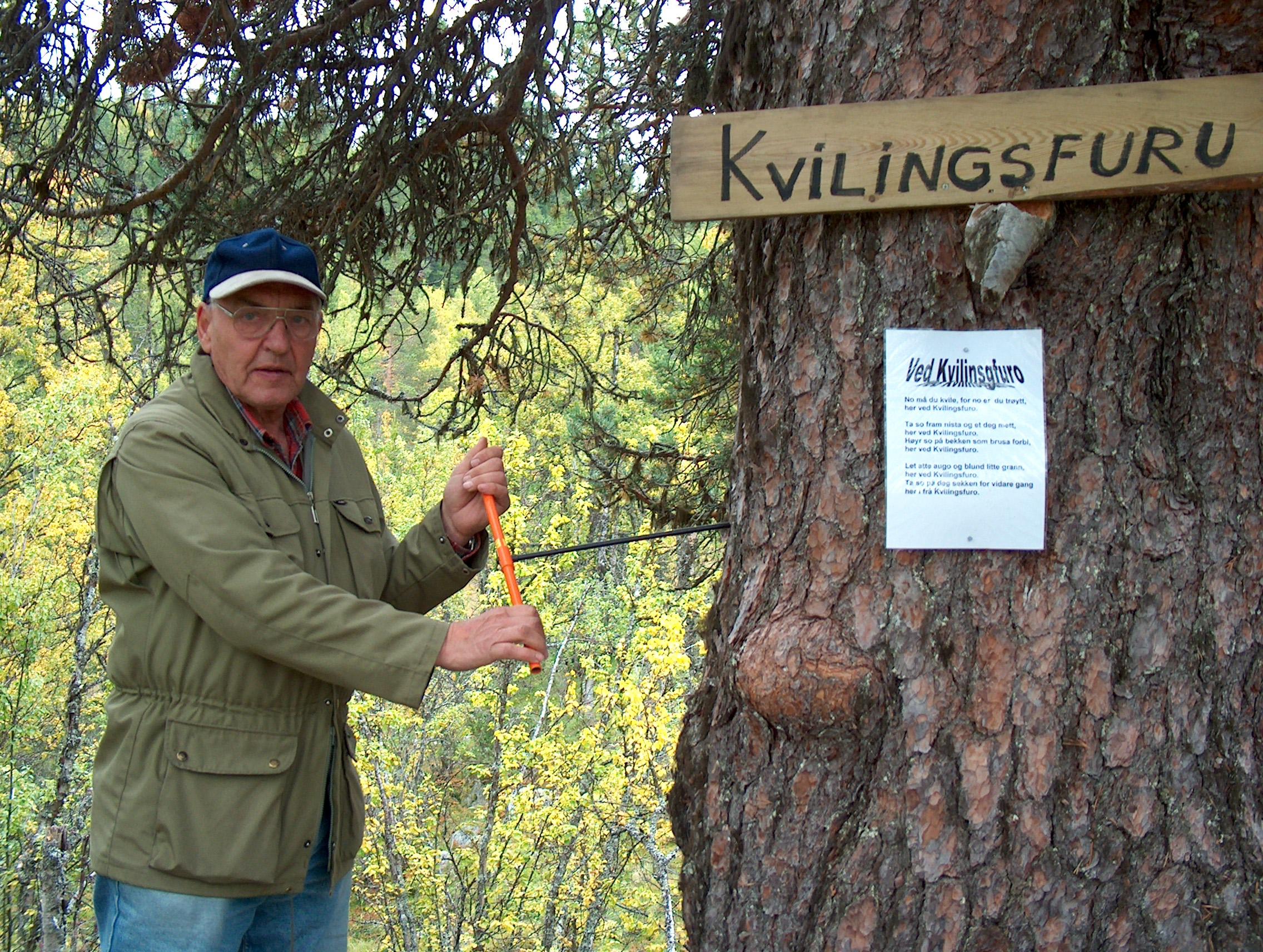 Magne Akervold tek boreprøve av Kvilingsfuro