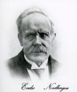 Endre Endresen Nordhagen, ca. 1925. Fra Hallingdal Museums bildearkiv.
