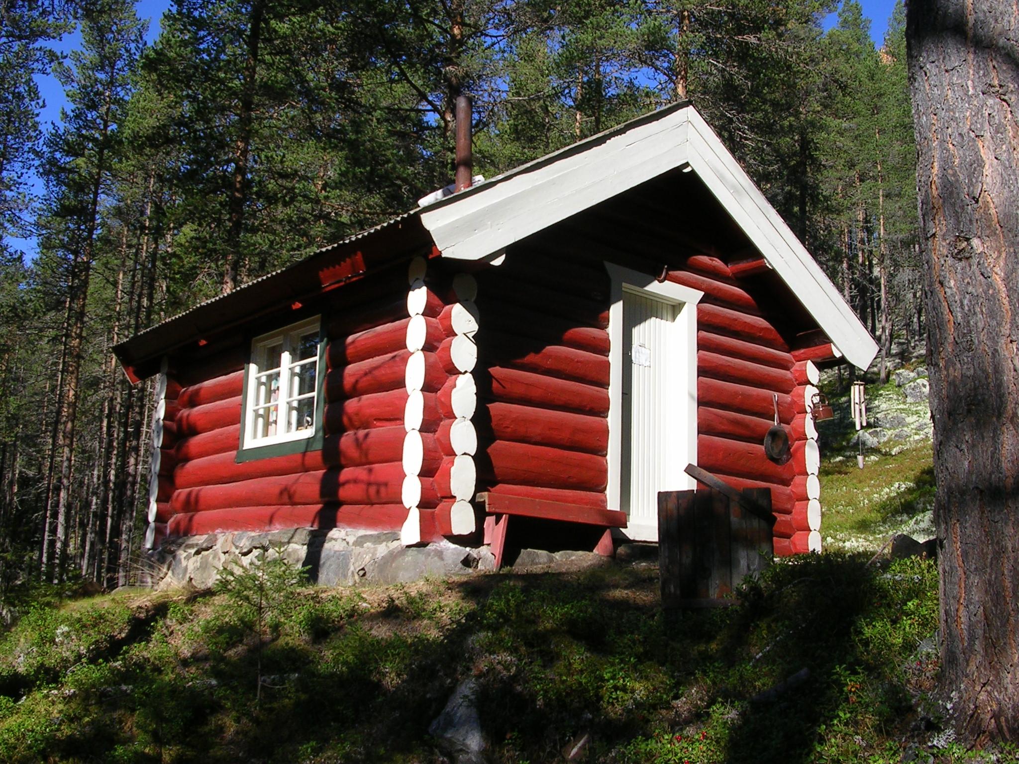 Nr. 1. Bjørhushytta sett fra Sør-Øst. Nr 1